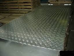 Лист алюминиевый рифленый квинтет 2000x1000x1 мм