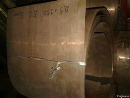 Лист бронзовый 0,5 х 250 мм. БрОФ