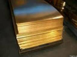 Лист латунный 2, 5х600х1500 ЛС-59 ціна купити гост доставка