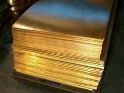 Лист латунный ЛС59 20х600х1500мм доставка, порезка