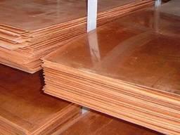 Лист ДПРНМ 4, 0х600х1500 М1, лист медный, купить, цена,