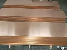 Лист (Плита) медный 16. 0 мм (600 х 1500 мм) ГОСТ 495-92