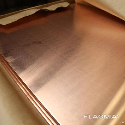 Плита медная М1 М2 М3 тодщина 6мм - 75мм Порезка