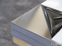 Лист нержавеющий 0.5х1000х2000 мм марка AISI 430 зеркало