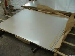 Лист алюминиевый размер 2 х 870х902 материал АМг5. остаток