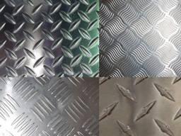 Лист стальной рифленый чечевица в наличии на складе
