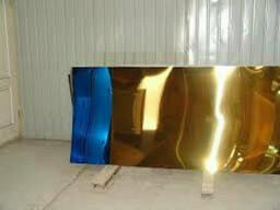 Лист нержавеющий с покрытием под золото