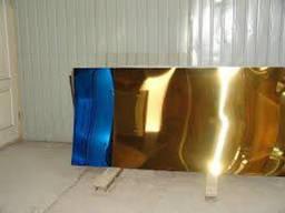 Лист нержавеющий с покрытием под золото, медь, кобальт