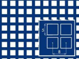 Лист перфорированный н/ж 1мм с квадратными ячейками
