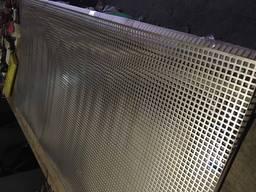 Перфорированный лист черный метал PC Rv5-8 1мм 1000х2000