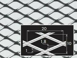 Просічно-витяжний лист нержавіючий 1,0х1000х2000 мм