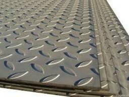 Лист рифленый 5 мм стальной металлический, ГОСТ 8568-77