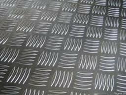 Лист рифленый алюминиевый квинтет 1-3мм
