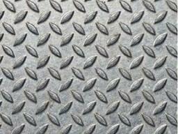 Лист стальной рифленый 5х1250х6000, 5х1000х4000