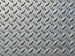 Лист стальной рифленый, 4 мм