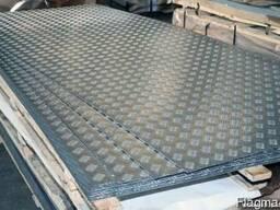 Лист алюминиевый рифленый 4 мм 1, 5х3 метра (квинтет)