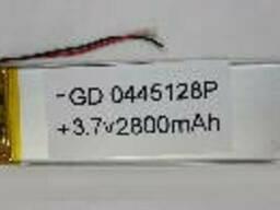 Литий-полимерный аккумулятор 4*45*128mm 3,7V (Li-ion 3.7В 3500мА·ч)