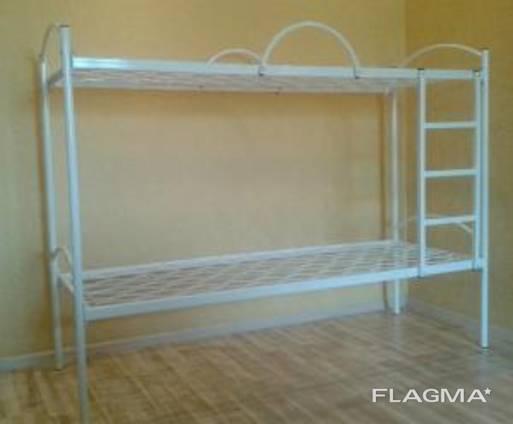 Ліжко двоярусне з металевими спинками 1900*800