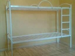 Ліжко двоярусне з металевими спинками 1900*900
