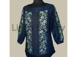 Нарядная блуза, вышиванка, лен, вышивка, сорочка, туника