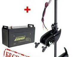 Лодочный мотор електромотор Fisher E 36 аккумулятор GEL 10