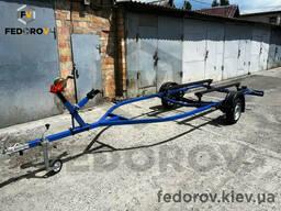 Лодочный прицеп лафет для перевозки ПВХ лодки, катера 5, 5 м - Fedorov