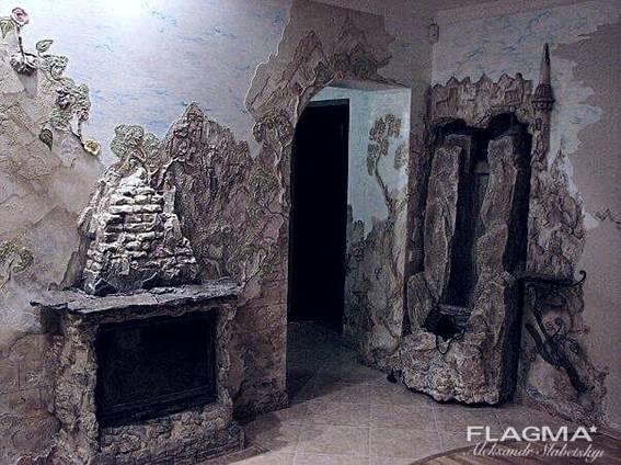 Лофт інтер'єр, декоративна штукатурка Луцьк майстер.
