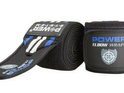 Локтевые бинты Power System Elbow Wraps PS-3600 Blue/Black