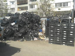 Лом ящиков полипропиленовых, турецких, черных.