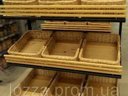Лотки плетеные 30х40х5 короба, корзины