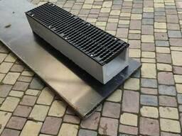 Лоток бетонный dn200 с чугунной решеткой