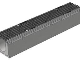 Лоток водоотводный SUPER ЛВ-20.30.36 бетонный с решеткой щелевой чугунной (комплект)