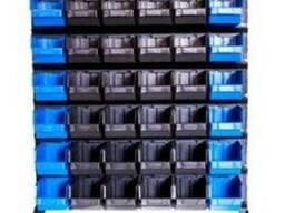 Напольный стеллаж с пластмассовыми коробами в Херсоне