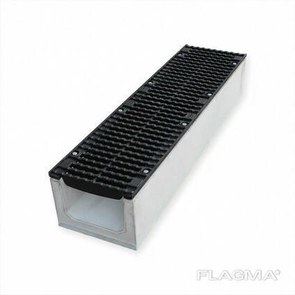 Бетонный канал DN200 H310 класс D400 E600 чугунная решетка