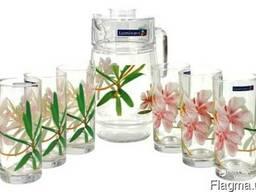 Lum.Freesia.Набор/вода(кувшин 1,6л,стаканы 270мл-6шт)-7пр.
