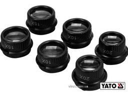 Лупи на голову з підсвіткою YATO 2 LED 4 пари з кратністю х10, х15, х20, х25