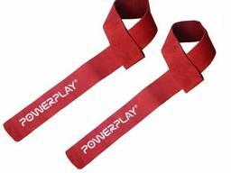 Лямки для тяги PowerPlay 5205 Шкіра Червоні SKL24-143790