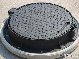 Люк канализационный полимерпесчаный садовый