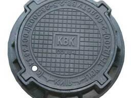 Люк канализационный чугунный магистральный тип ТМ (40 тн. )