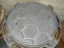Люк канализационный чугунный тип Т (25 тн.) цена купить