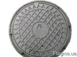 Люк канализационный чугунный легкий тип ЛА 15 комплект