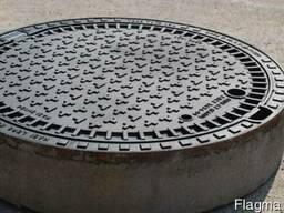 Люк канализационный сверхтяжелый тип СТ (Е600) KЕ81P (Чехия)