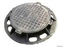 Люк канализационный тяжелый тип В-Д. купить цена Украина