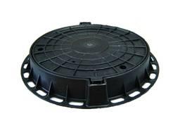 Люк канализационный 800х627 полимер черный