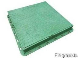 Люк квадратный пластмассовый 1т. ф610