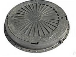 Люк пластмассовый легкий №4 (серый) с замком