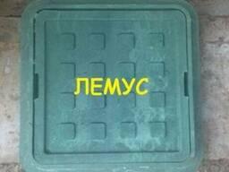 Люк полимерпесчаный квадратный 300х300 зеленый