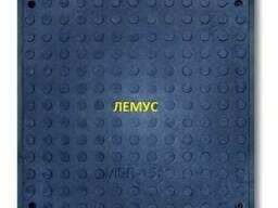 Люк полимерпесчаный квадратный черный в Днепропетровске