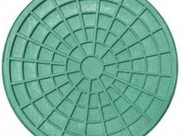 """Люк полимерпесчаный тип """"Л"""" 315, под трубу (зелёный)"""