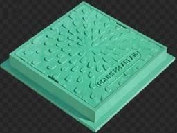 Люк ревизионно- смотровой квадратный зеленый